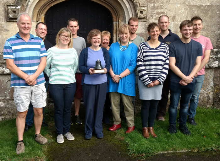 The St Mary Redcliffe team with the Higby Trophy